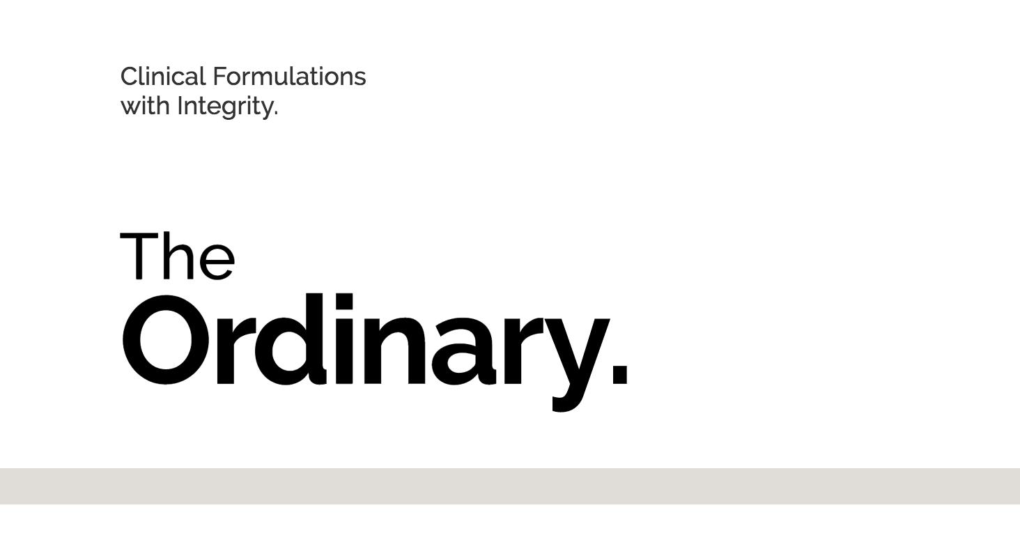 Kết quả hình ảnh cho THE ORDINARY logo